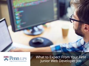 Man learning web development